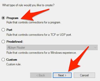 كيفية منع البرامج و التطبيقات من استخدام الأنترنت على الويندوز