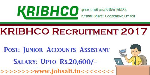 KRIBHCO Junior Accounts Assistant Vacancy, KRIBHCO Vacancy, Govt Jobs 2017-18
