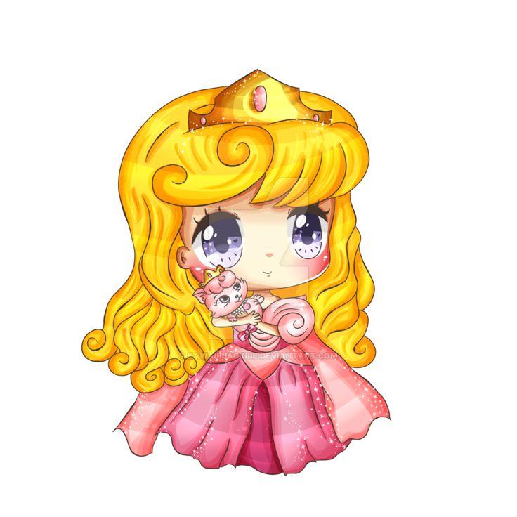 princess Aurora chibi người đẹp ngủ trong rừng