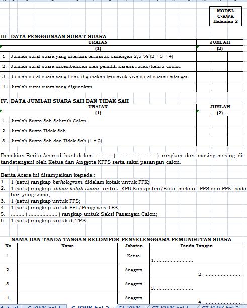 Jenis Formulir Dalam Pemilu 2019 Excel : jenis, formulir, dalam, pemilu, excel, Ringin, Membangun:, JENIS, FORMULIR, PEMUNGUTAN, PENGHITUNGAN, SUARA, PILGUB, JATENG, TAHUN