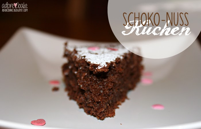 Adore2bake Schoko Nuss Kuchen