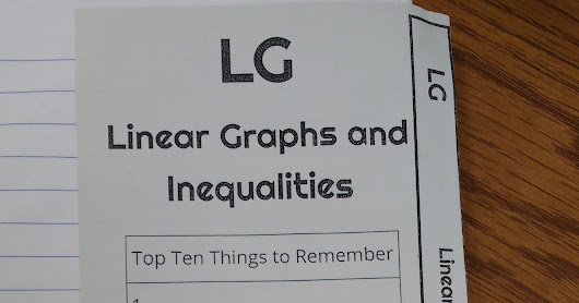 Linear Graphs Interactive Notebook Pages
