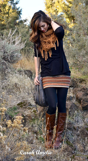 10. A long poncho can be very bulky. Wear it with leggings ...