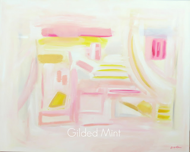 artist jennifer latimer painting gilded mint fashion pink art