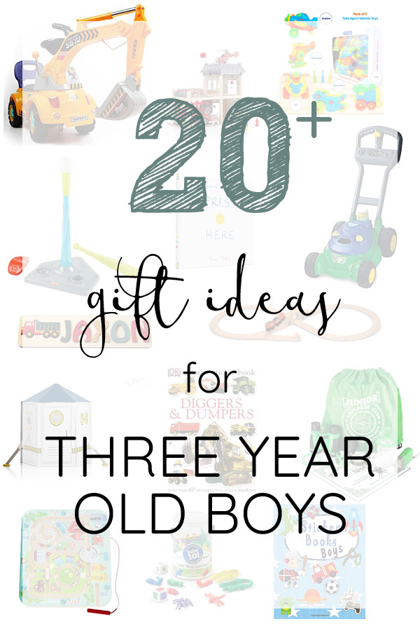 The best gift ideas for three year old boys!
