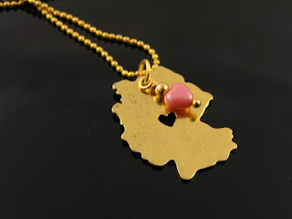 Germany Map Necklace