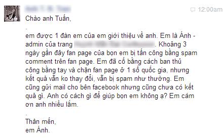 Chặn bình luận spam trên Facebook