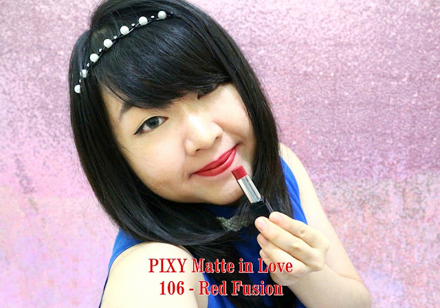 PIXY Matte in Love Lipstick 106 Red Fusion