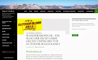 Outdoor Blog Award