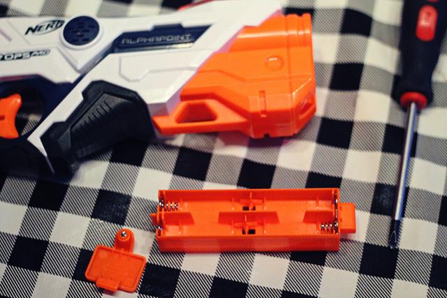 NERF Laser Ops Pro batterijen