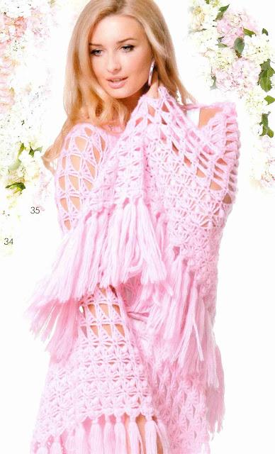 Patrón #1409: Chal a a Crochet