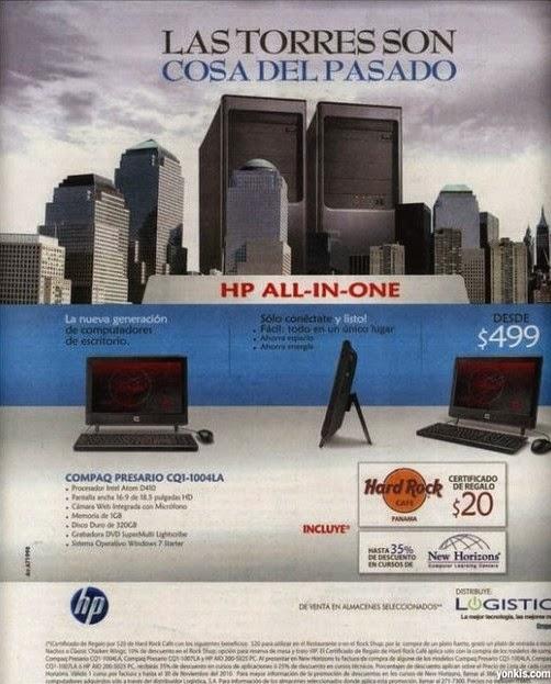 Anuncio publicitario muy desafortunado de HP