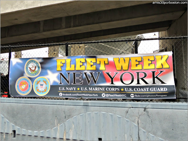 Cartel de la Fleet Week de Nueva York durante Memorial Day