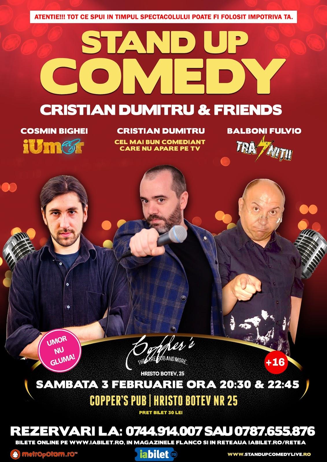 Stand-Up Comedy Bucuresti Sambata 3 Februarie