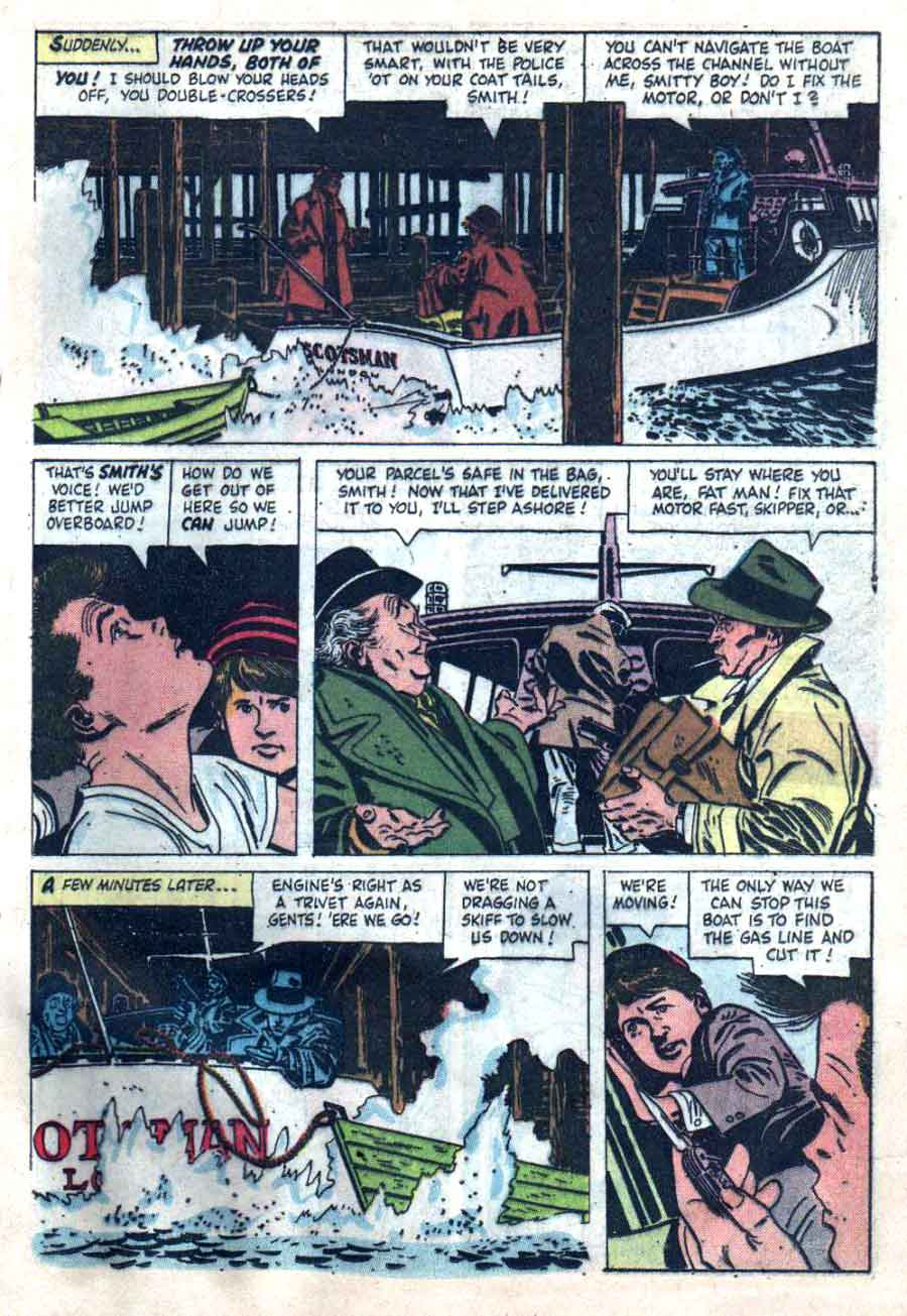 Clint and Mac / Four Color Comics #889 dell comic book page art by Alex Toth