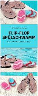 Häkelanleitung für Flip-Flop-Schwamm