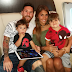 Football legend, Lionel Messi, shares cute photo with his wife and two sons