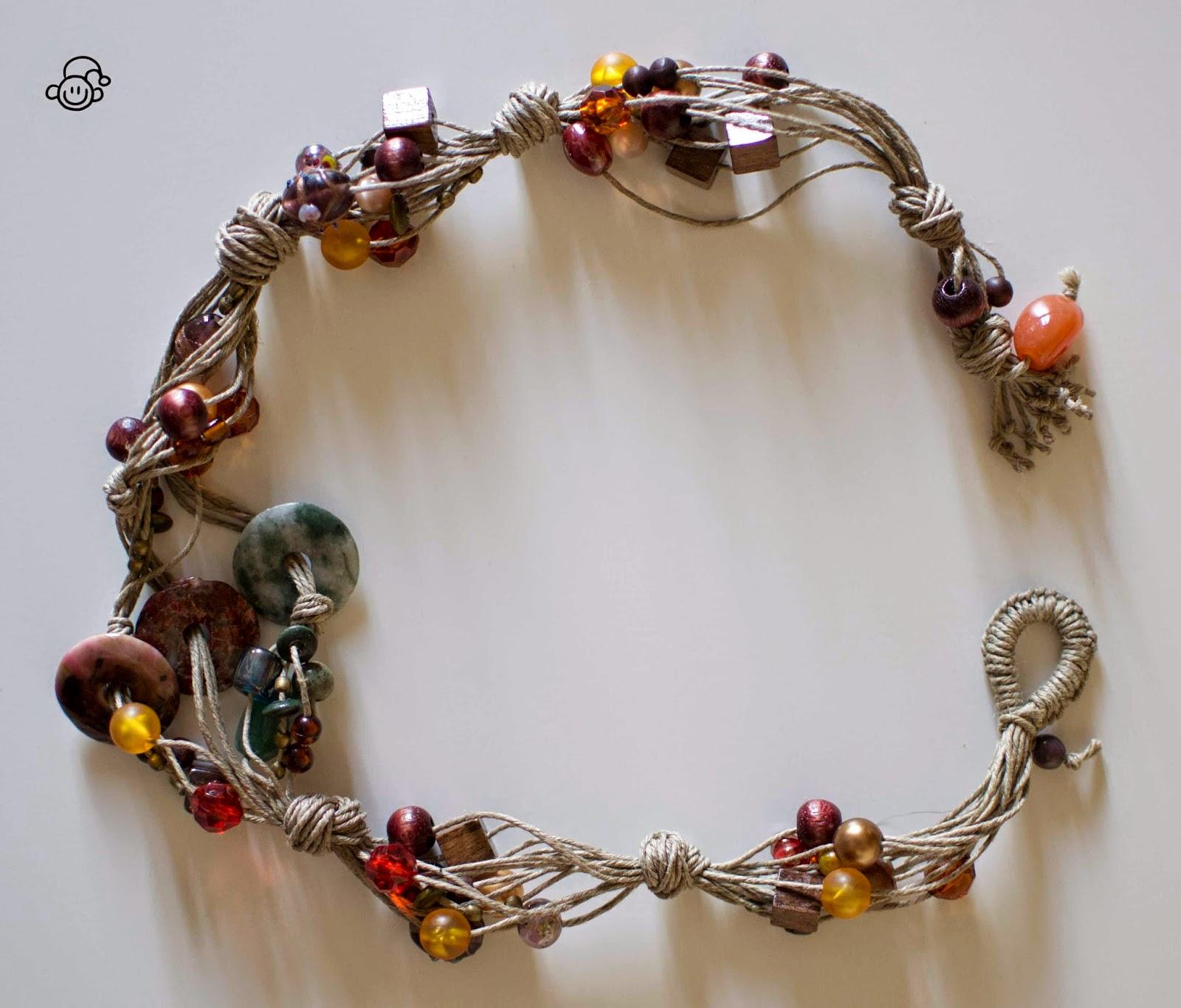 Conosciuto Casa Ignoli: La collana di spago e perle di pietre dure HO59