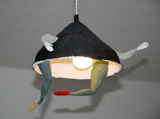 Papier à êtres : Suspension lumineuse, Exposition « d'Inspiration Jérôme Bosch », Galerie de la Marraine