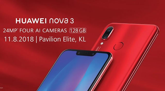 Huawei Nova 3 To Be Available In Malaysia This Weekend; Earlier Than Previously Announced
