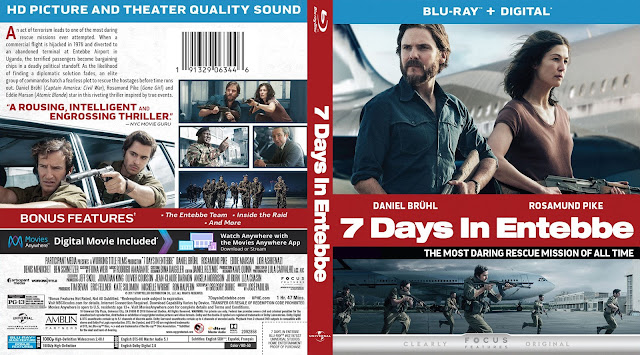 7 Days in Entebbe (scan) Bluray Cover