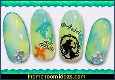 Mermaid  Nail Art Water Decals Transfers Decorations mermaids