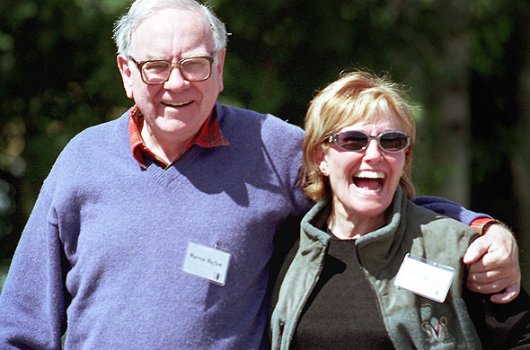 Warren Buffett and his wife Susan planned for him to make as much money as he could, and then for her to not spend it, but give it all away to worthy causes.