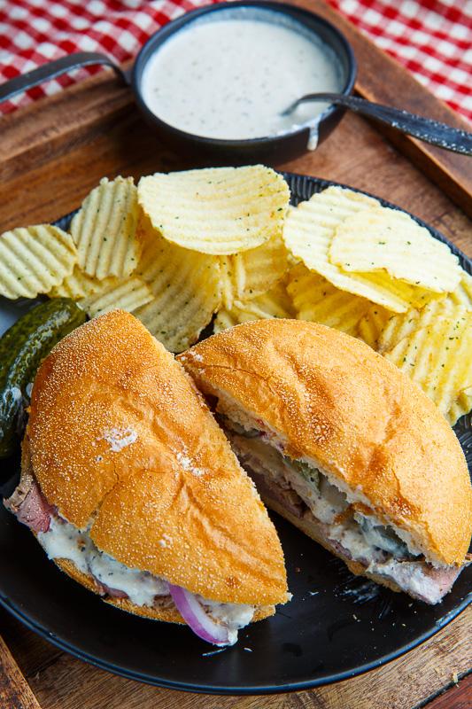 Roast Beef Sandwiches with Horseradish Sauce
