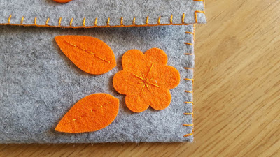 Embellished felt pouches