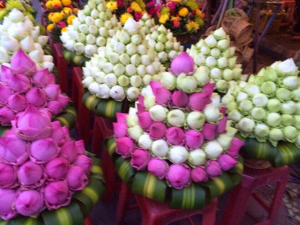 Cửa hàng hoa ở trước chợ PhSa-Thmay (chợ Mới)