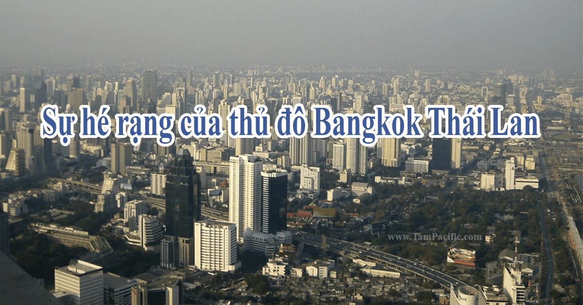Sự hé rạng của thủ đô Bangkok Thái Lan