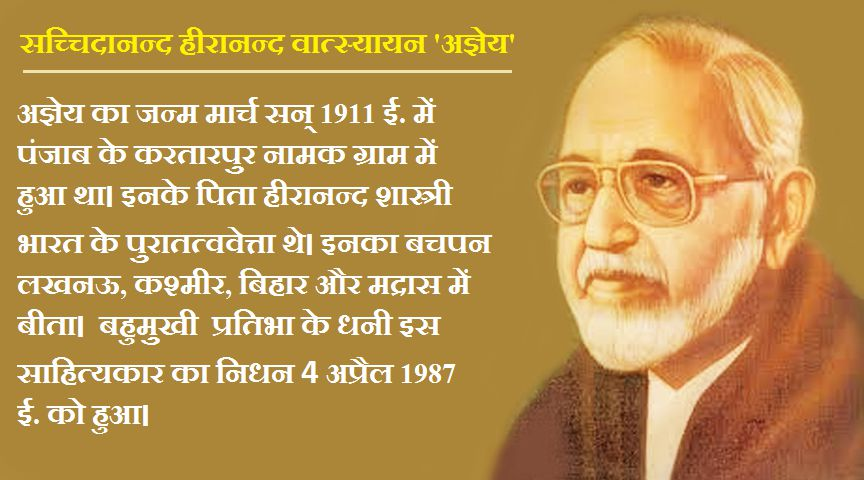 Sachidanand Hiranand Vatsyayan Agyeya