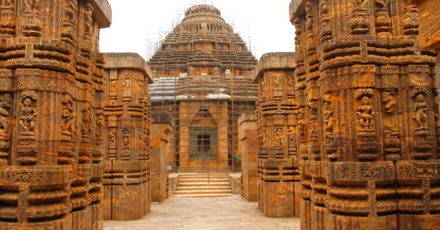 Entrance to the majestic Sun temple of Konark, Odisha