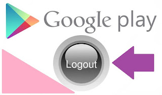 log out from google play store on android