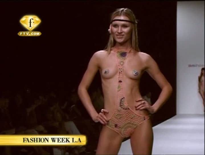 Aside! Completely Nude runway models pussies shoulders down