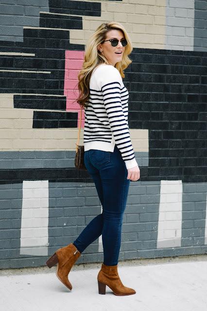 nautical striped cashmere