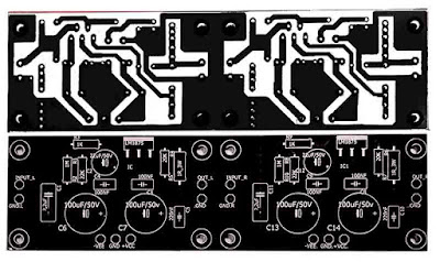 PCB Stereo Gainclone Power Amplifier LM1875