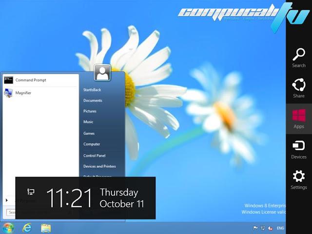 Startisback Botón Menú Inicio para Windows 8 + 380 Orbs Descargar