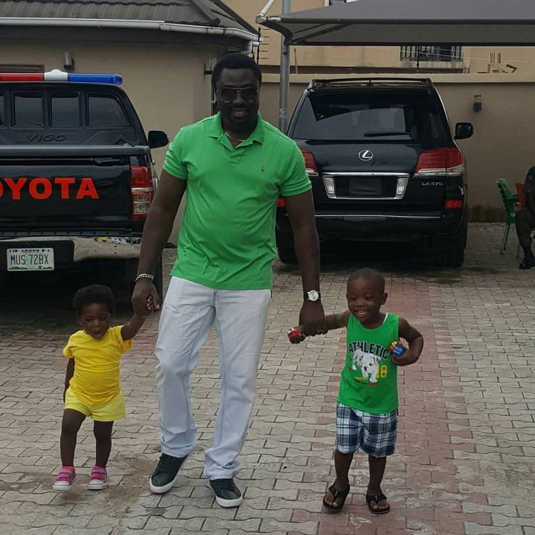 Mercy Johnson & Husband Bond With Kids At Family House In