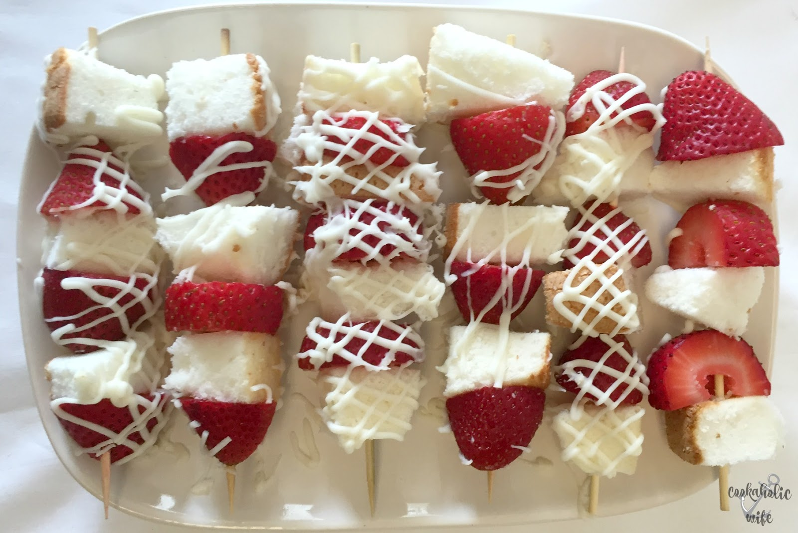 Cookaholic wife strawberry angel food cake kebabs ive never been a huge fan of cake preferring the ice cream variety for birthdays because i find the traditional stuff to be too dense forumfinder Image collections
