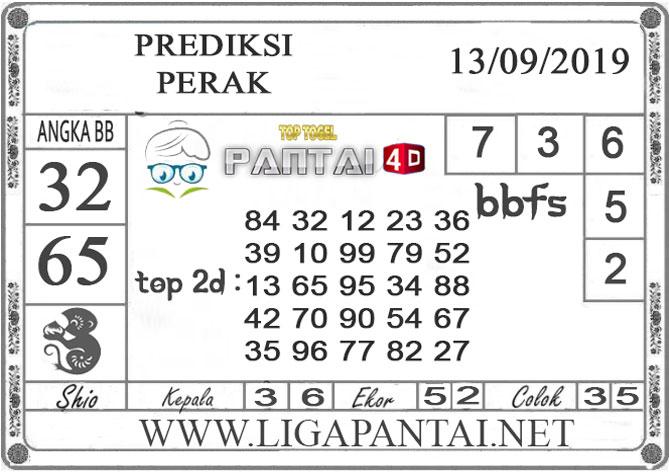 """PREDIKSI TOGEL """"PERAK"""" PANTAI4D 13 SEPTEMBER 2019"""