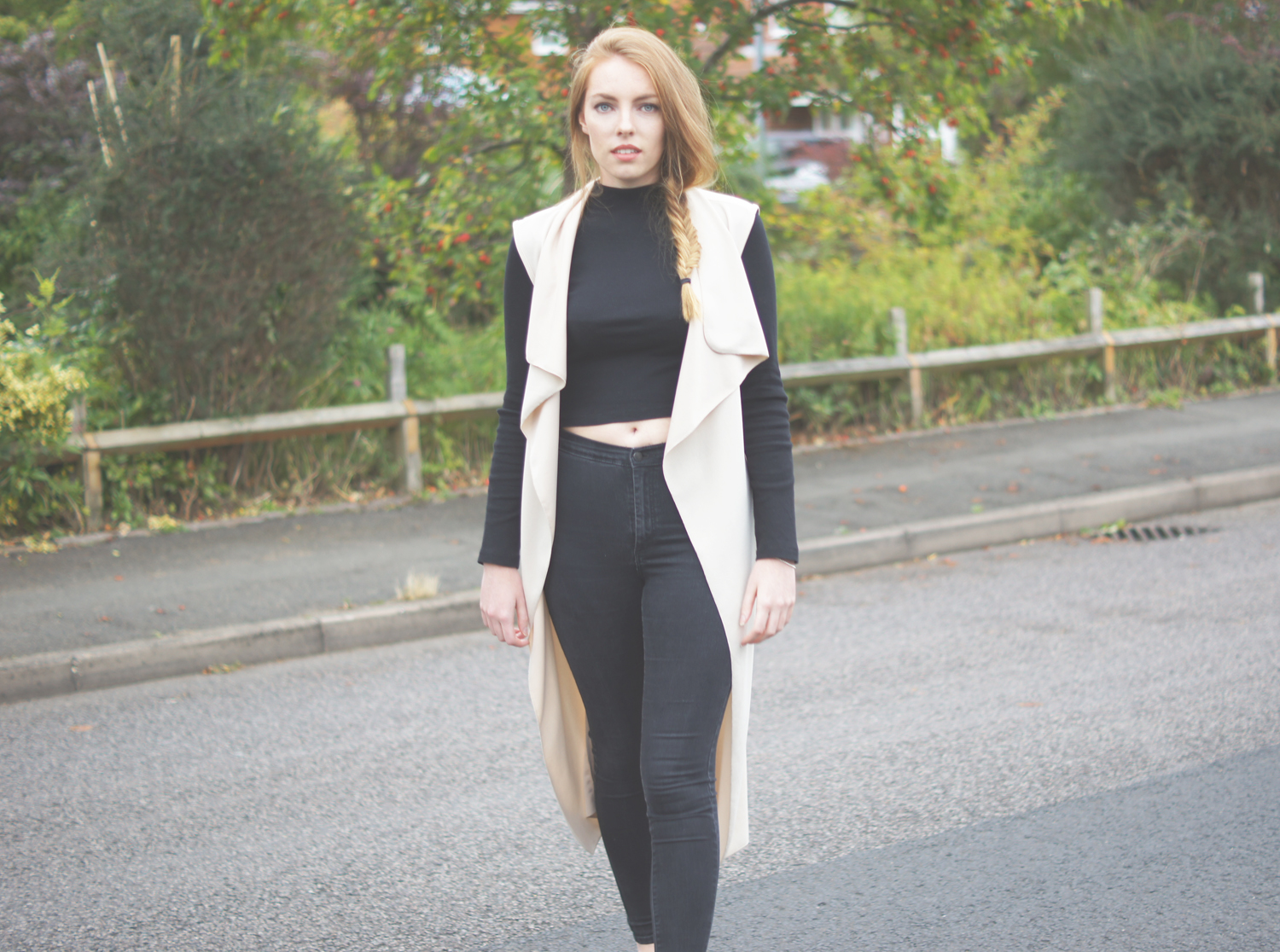 missguided sleeveless coat