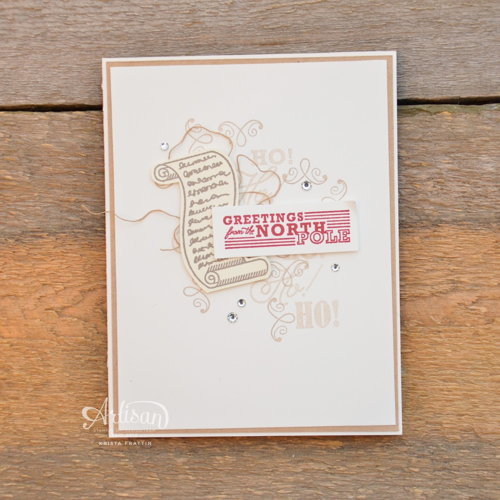 Stampin Dolce Greetings From The North Pole Gdp063