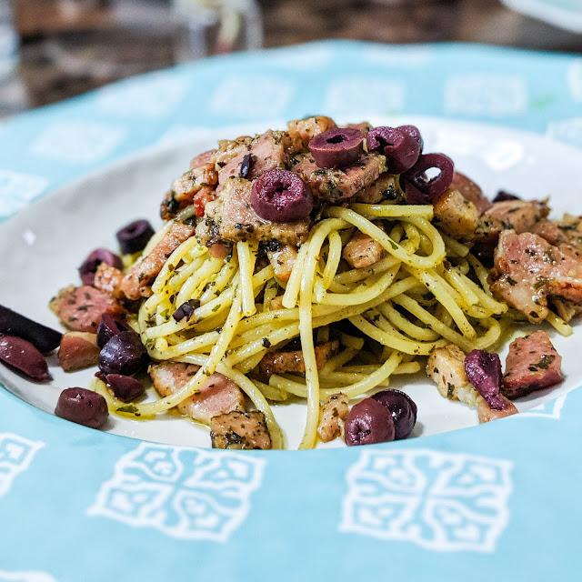 Recette : Spaghetti au Bacon et pesto 100% Québécois