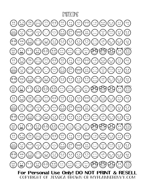Free Printable Emoticons from myplannerenvy.com