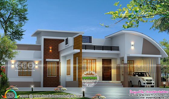 1200 sq-ft 2 BHK single floor home plan