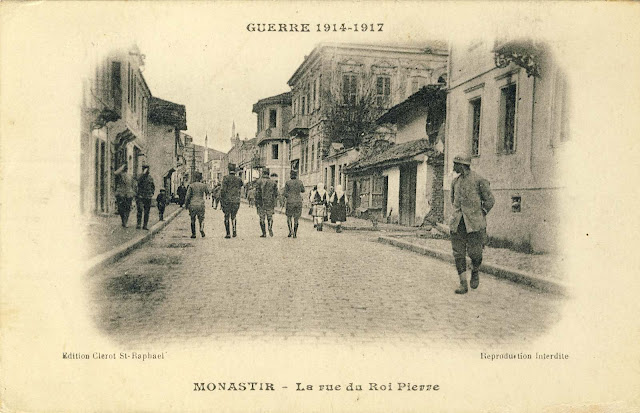 Sirok Sokak in the spring of 1917. Postcard from the publisher Clerot St.Raphael. The houses on the right side of the street were demolished by bombing the same year.