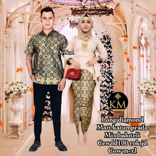 Batik Couple Kebaya Long Blus Diamond