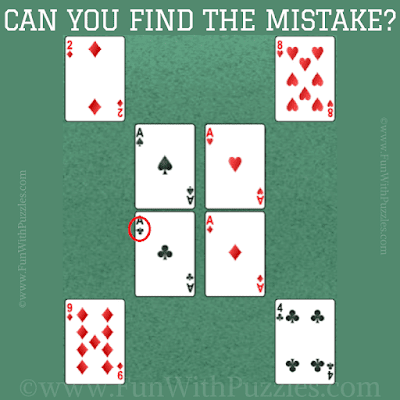 Answer of Mistake Finding Fun Brain Picture Riddle