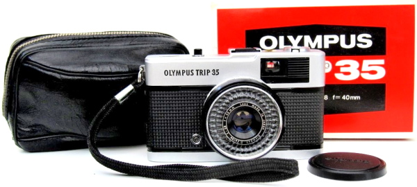 Olympus Trip 35 - Later model with the black plastic Shutter Release button